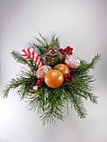 Букет из мыла Новогодний Мандарины, Шоколад и хвоя в Зеленой Лейке, фото 5