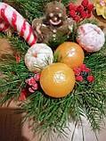 Букет из мыла Новогодний Мандарины, Шоколад и хвоя в Зеленой Лейке, фото 8