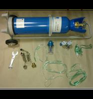 Баллоны кислородные с тележкой для транспортировки 6,3 л, Баллон кислородный 6,3, Кисневий балон