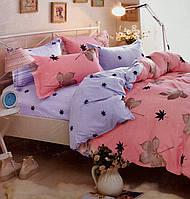 Комплект постельное белье 5D фланель 200×230 евро