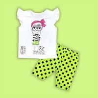 Комплект для девочки летний (шорты и футболка)