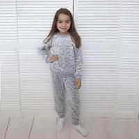 Пушистая пижама на манжетах