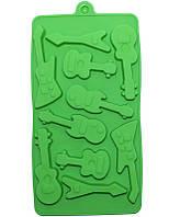 """Силиконовая форма для льда и конфет """"Гитары"""" 20x10.5см 10 ячеек"""