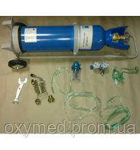 Баллоны кислородные с тележкой для транспортировки 10 л, Баллон кислородный 10, Кисневий балон - ОКСИМЕД-стимул к здоровому образу жизни в Киеве