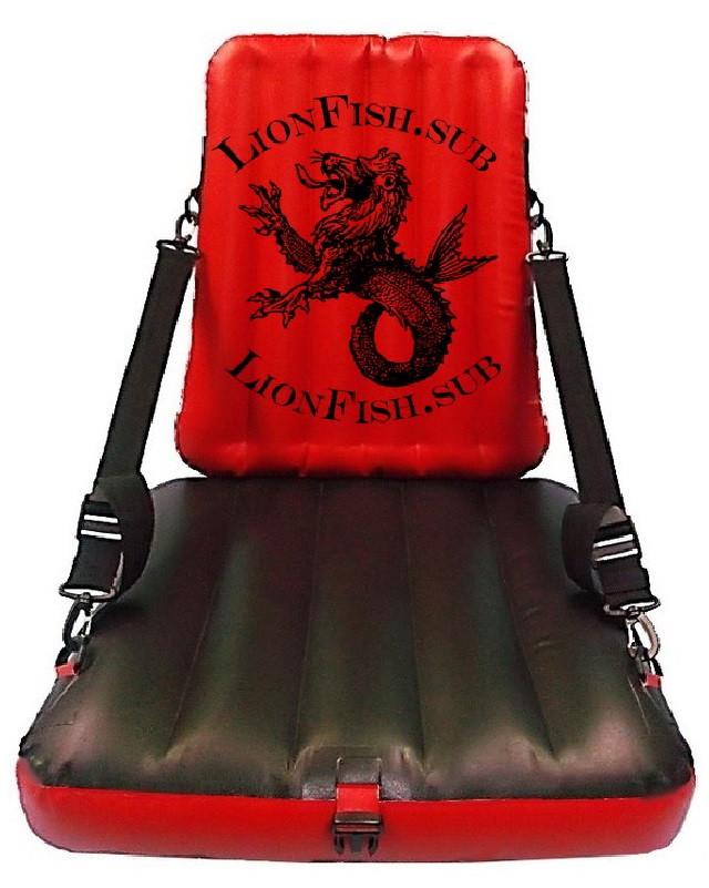 Сиденье Кресло LionFish.sub с Регулировкой Наклона Спинки для Лодки, Байдарки.ПВХ, фото 1