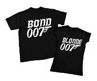 """Набор футболок 2 шт. для пары """"bond&blonde"""" Family look"""