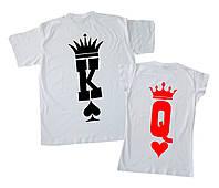 """Набор парных футболок на подарок """"king&queen"""" Family look"""