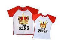 """Набор парных футболок для двоих """"король и королева"""" (сублимация) Family look"""