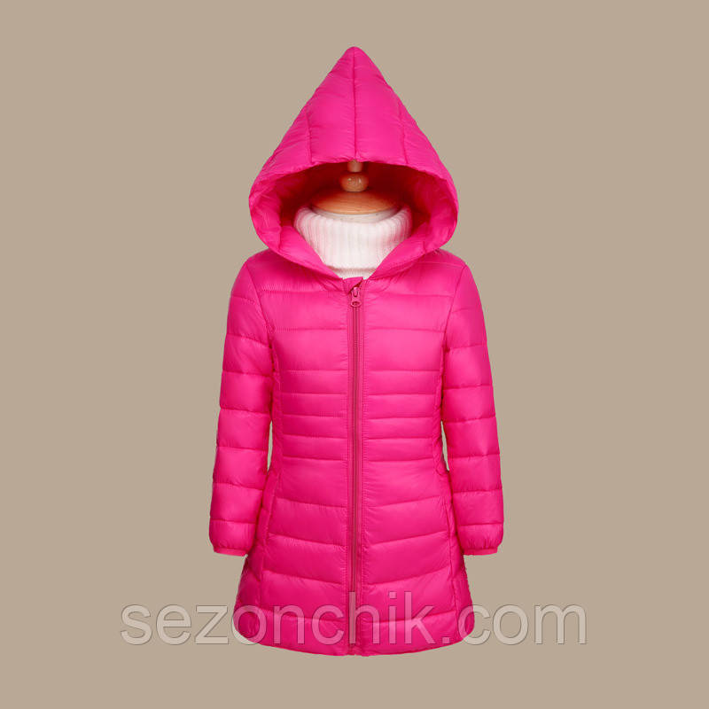 Удлинённые детские куртки на девочек весенние