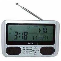 Часы BCT-785 (FM радио, будильник, термометр, воспроизведение аудио с других устройств)