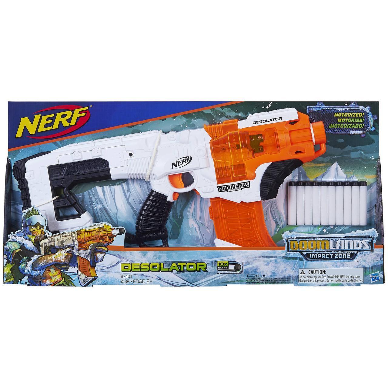 Бластер Nerf Думлэндс Опустошитель Doomlands Impact Zone Desolator от Hasbro  (B7401)