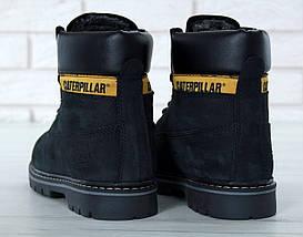 Женские зимние ботинки Caterpillar CAT Black с мехом, фото 3