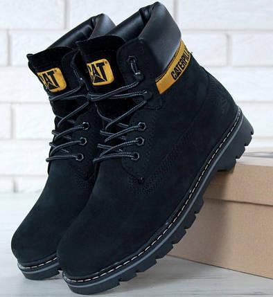 b120e9ca Мужские (женские) зимние ботинки в стиле Caterpillar CAT Black с мехом,  фото 2
