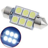 Светодиодная Лампочка LED FS-5050-6 SMD 36 мм 12-24В Автомобильная Лампа