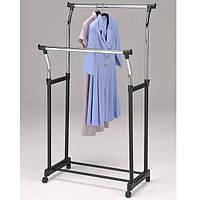 Стойка вешалка для одежды Onder Mebli «CH-4344» 86х51х104-167 см. Черный