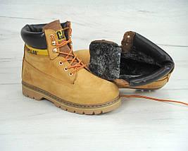 Женские (мужские) зимние ботинки Caterpillar CAT Yellow с мехом, фото 3