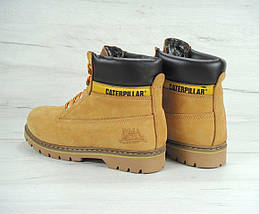 Женские (мужские) зимние ботинки Caterpillar CAT Yellow с мехом, фото 2