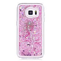 TPU чехол Liquid hearts для Samsung G930F Galaxy S7 Розовый