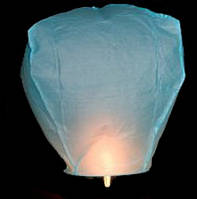 Небесный фонарик купол голубой