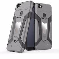 Ударопрочный защитный чехол-подставка Transformer Iron для Xiaomi Redmi Note 5A/ Redmi  Y1 Lite Металл / Gun Metal