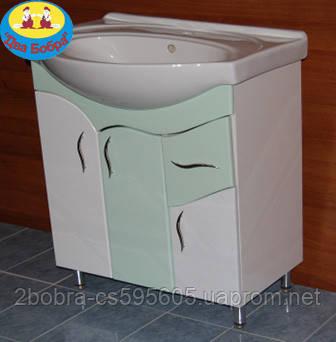 Тумба для Ванной Комнаты Galaxy Т. Изео 60\1 + Умывальник Изео 60, фото 2