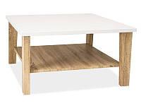 Журнальный столик Klara Signal белый+дуб сонома