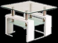 Журнальный столик Lisa D basic Signal белый лакированный