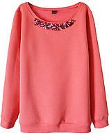 Женский стильный свитшот с камнями (женские кофты, кофточки, толстовки и регланы, свитера и кардиган