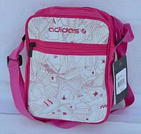 Сумочка женская Adidas розово-белая