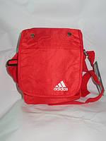 Сумочка однотонная красная adidas