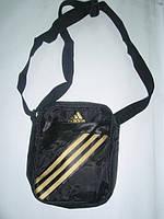 Сумка Adidas черно-золотая через плечо