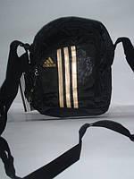 Сумка на плечо Adidas золотые лампасы