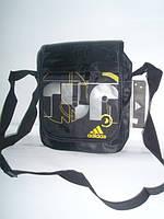 Мужская сумка на плечо Adidas черно-белая