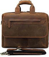 Сумка Vintage 14563 из натуральной винтажной кожи Коричневая, Коричневый, фото 1