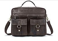 Сумка мужская Vintage винтажная кожа 14610, Серый, фото 1