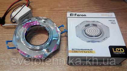 Новинка от фирмы FERON - декоративный встраиваемый светильник со светодиодной подсветкой 8020-2 LED