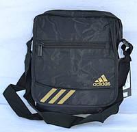 Сумка через плечо Adidas золотистая эмблема