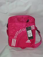 Сумка женская на плечо классика розовая Adidas