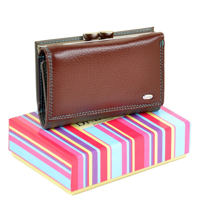 41365dc65fd8 Кожаный кошелек Rainbow DR. BOND WRS-11 date-red, цена 446 грн ...