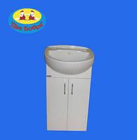 Тумба для Ванной Комнаты Galaxy Аква Эконом 55+ Умывальник Аква 55