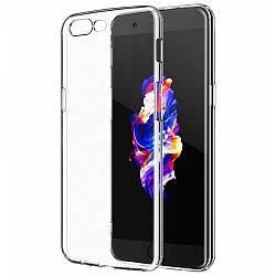 Прозрачный Чехол OnePlus 5 (ультратонкий силиконовый) (Ван Оне Плас Плюс 5)