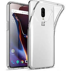 Прозрачный Чехол OnePlus 6T (ультратонкий силиконовый) (Ван Оне Плас Плюс 6Т)