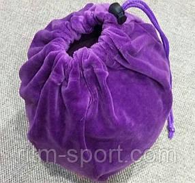 Чехол для гимнастического мяча фиолетовый (велюр)