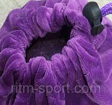 Чехол для гимнастического мяча фиолетовый (велюр), фото 3
