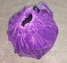 Чехол для гимнастического мяча фиолетовый (велюр), фото 2
