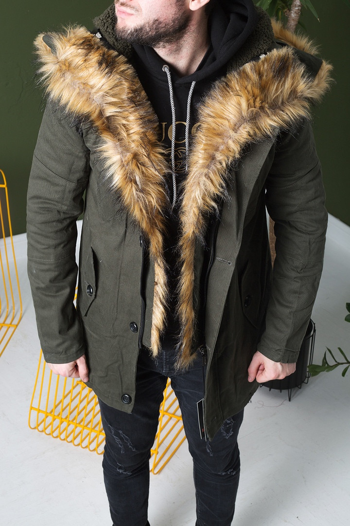 Куртка мужская зимняя цвет хаки(парка). Куртка чоловіча зимова.ТОП КАЧЕСТВО!!!, фото 1