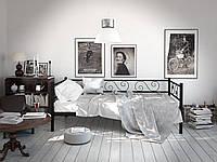 Металлический диван-кроватьАмарант