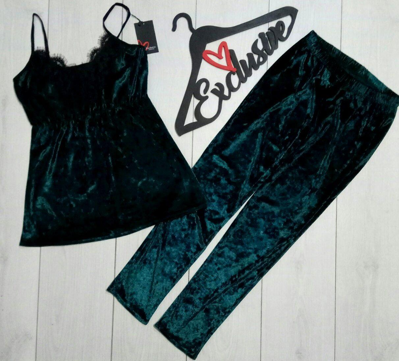 Модная женская пижама с кружевом на 40-42