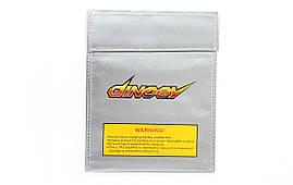 Чехол DINOGY 18x23см для безопасного хранения и зарядки LiPol аккумуляторов