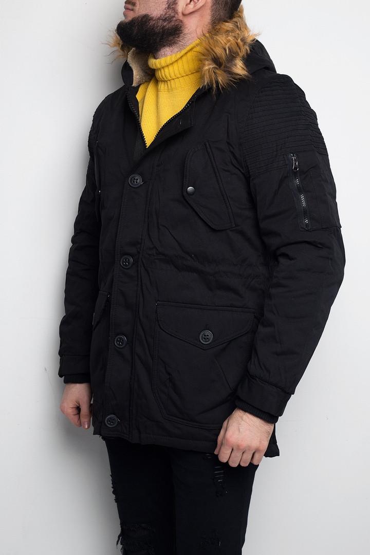 Куртка мужская зимняя черная (парка). Куртка чоловіча зимова.ТОП КАЧЕСТВО!!!